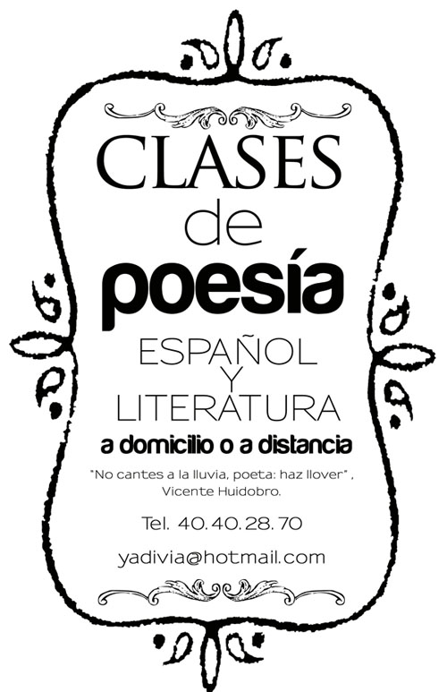 Cartel: Poesía a distancia