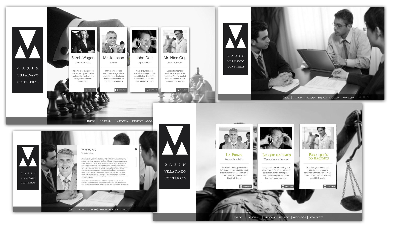 Propuesta de website para Bufette de abogados