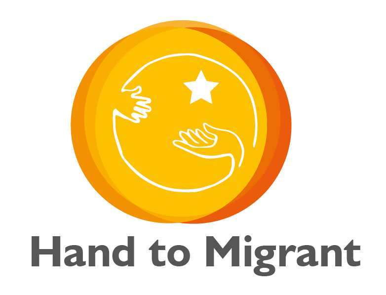 Hand to migrants